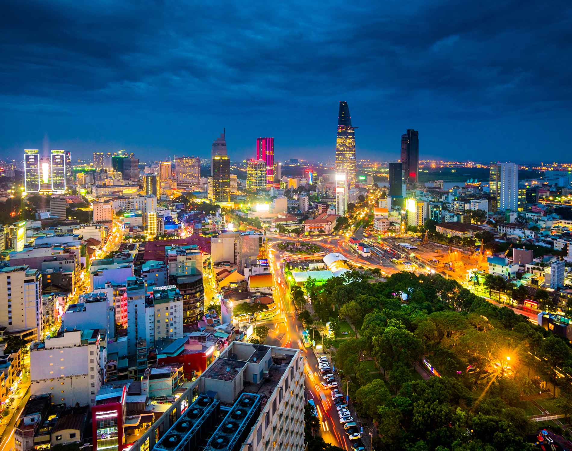 View of Ho Chi Minh City