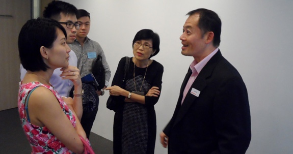 Corporate partner Lim I-An and the Executive Director of SVCA Doris Yee engaged in a conversation with the attendees.